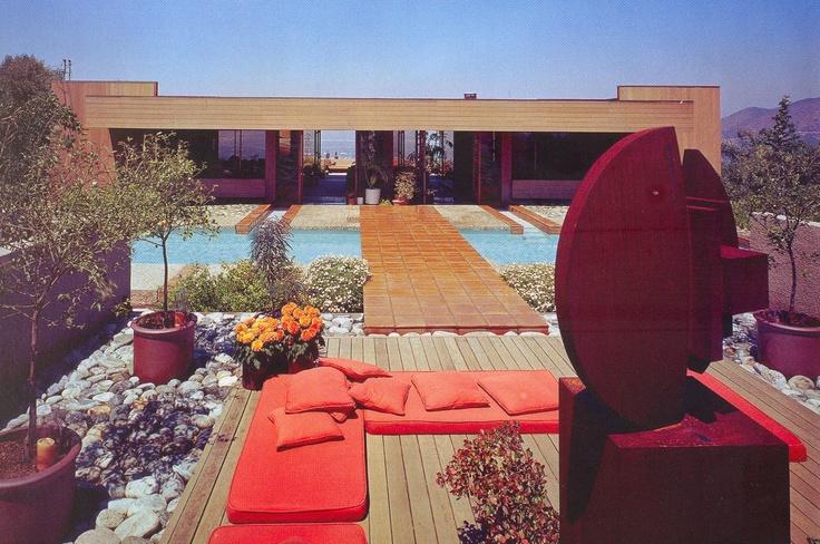Outdoor seating around pool w tiled bridge argos for Garden pool argos